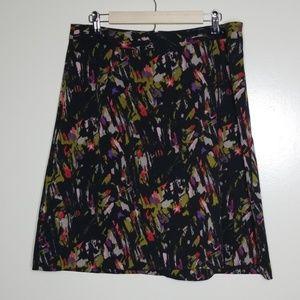 Lane Bryant Brush Stroke Skirt Size 14